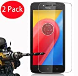 2 Pack - Moto C Plus Verre Trempé, FoneExpert® Vitre Protection Film de protecteur d'écran Glass Film Tempered Glass Screen Protector Pour Motorola Moto C Plus
