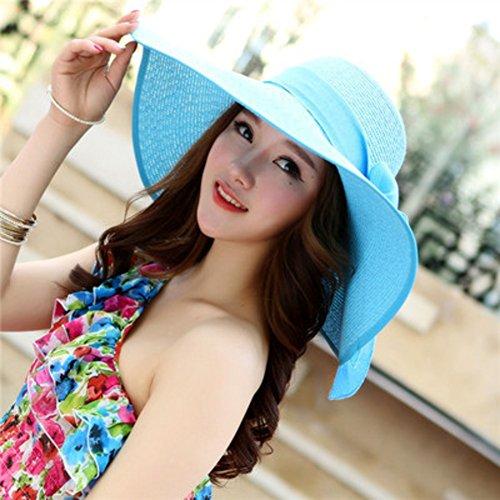 Cap di spiaggia,tesa larga packable ha paglia cappelli estivi visiera upf 50 +-j m