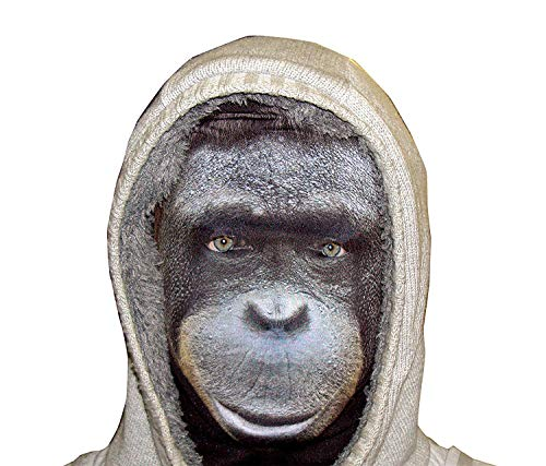 L&S PRINTS FOAM DESIGNS Halloween Clyde Monkey lustiges Stoff Face Maske Design Snood Gesichtsmaske hergestellt in Yorkshire