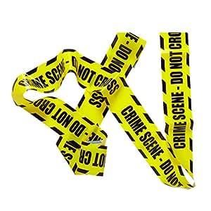 Ruban de Signalisation Bande Jaune Zone Interdite Déco Halloween Party Ruban Crime Scene Article de Fête