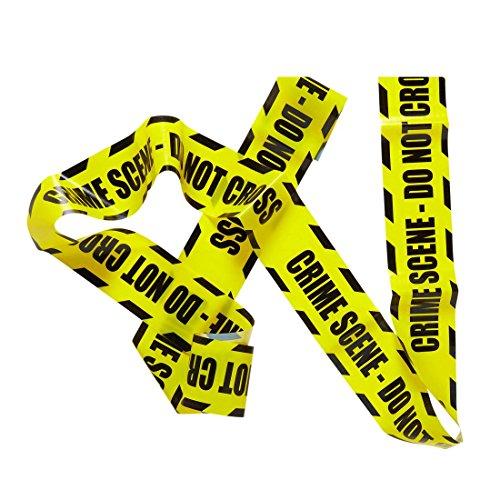 latterband Polizei 7,20 m Halloween Dekoration Bänder Absperr Band Deko Halloweendekoration Partydeko (Polizei Absperrband)