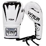 Venum Erwachsene Boxhandschuhe Mit Schnürsenkel Giant 3.0, Weiß, 12 oz, 02729-002