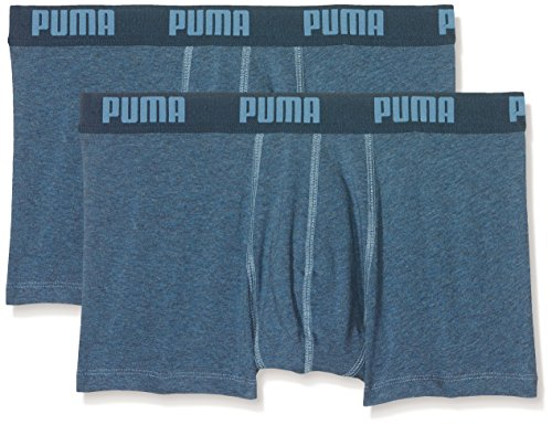 Puma Herren Basic Trunk 2P Boxershorts, Denim, M -