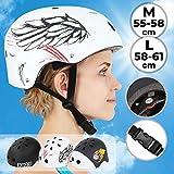 Infantastic - Casque à Vélo Skate Roller Circonférence 55-61 cm (Taille/Couleur au...