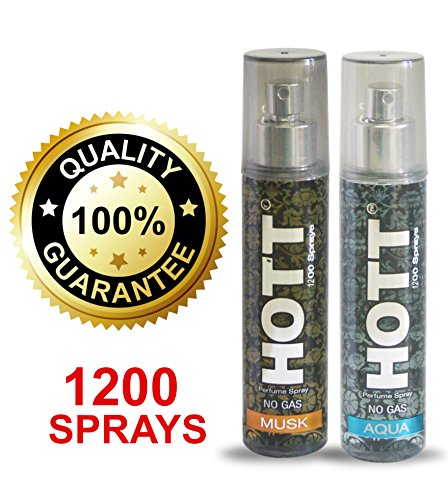 Hott MUSK & AQUA Perfume Combo For Men, 135ml (Each)