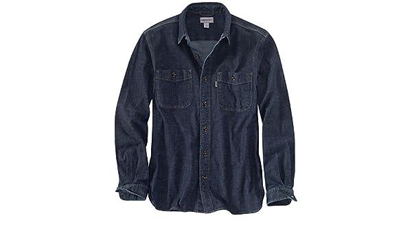 23ae8c9a46 Carhartt 102257 Mens Rugged Flex Patten Denim Work Casual Shirt   Amazon.co.uk  Sports   Outdoors