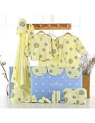 SHISHANG Set de 22 pièces Boîte cadeau pour bébés Boîte cadeau pour bébé en coton pur Enfant garçon adapté pour 0 à 12 mois Boîte cadeau pour nouveau-nés Coton pur (100%) Forfait cadeau Four Seasons