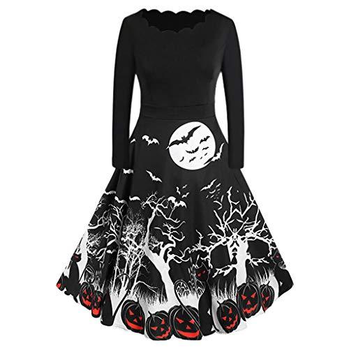 Machen Einen Schlanken Mann Kostüm - Calvinbi Damen Vintage Kleid V Ausschnitt
