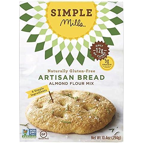 Semplice mulini - farina di mandorle naturalmente senza glutine Mix pane artigianale - 9,5 oz. - Glutine Mandorle Pane