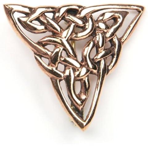 Colección de joyas broche de bronce filigrana en forma triangular Dimensiones: 3 x 3 cm 2,79 cm x 2,79 cm capa vestido pin