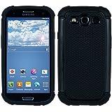 kwmobile Hybrid Outdoor Hülle für Samsung Galaxy S3 / S3 Neo - Dual TPU Silikon Hard Case Handy Hard Cover in Schwarz