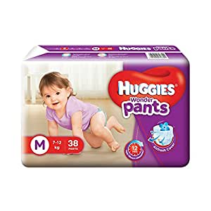 Huggies Wonder Pants Diapers (Medium) - 38 Count