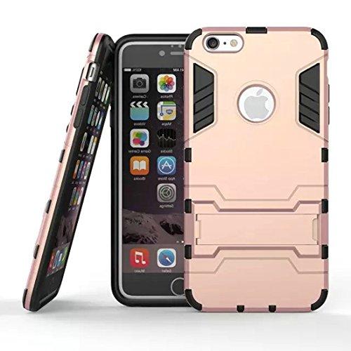 DBIT Apple iPhone 6 Plus iPhone 6S Plus Custodia Alta qualità Durevole TPU/PC Custodia protettivo Armatura Case con cavalletto per Apple iPhone 6 Plus iPhone 6S Plus,Rose Oro Rose Oro