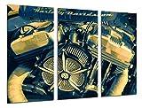 Cuadro Moderno Fotografico Moto Harley Davidson, Moto Vintage, Motor, 97 x 62 cm, ref. 26495