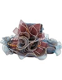 TININNA Elegante Large Wide Brim Berretto in Organza Protezione dai Raggi  UV Cappello da Donna Cappelli b19327a441aa