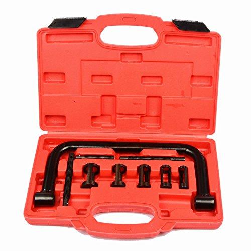 SAILUN 10 teilig Universal Ventilfederspanner Kompressor Ventilfeder Spanner Federspanner Kit Spannapparat Werkzeug für Motoren und Motorräder mit Koffer
