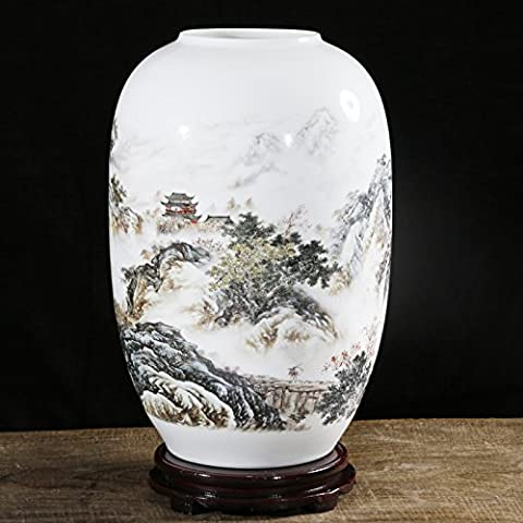 Maivace Ceramic Vase Decorative Ornaments Ceramic Powder Caihua Office Home