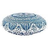 """Ombre Mandala, cuscini da pavimento grande, decorativo Throw federe 32"""", indiano pouf ottomano, Roundie Boho Copricuscini, Pompon Outdoor cuscino Cover"""