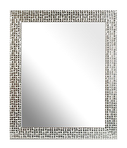 Inov8 10 x 8-Inch British Made Traditional Mirror Frame, Mosaic Silver