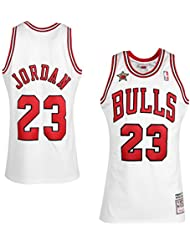NBA Mitchell & Ness Michael Jordan Chicago Bulls 1998 swingman - Camiseta de baloncesto, Weiß, large