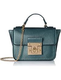Caprese Sappho Women's Sling Bag (Metallic Grey)