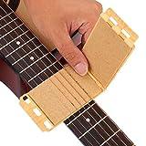 Dilwe Saite und Griffbrett Reiniger, Gitarre Bass Pflege Werkzeug(Holzmaserung)