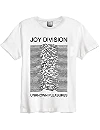 Amplified Joy Division 'Unknown Pleasures' (White) T-Shirt Clothing