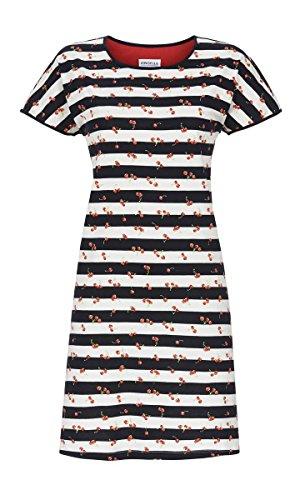 Ringella Damen Nachthemd Geringelt Dark Navy 44 9211003, Dark Navy, 44