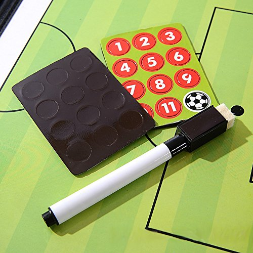 AMAZINGDEAL365  PVC Football Coaching Board Board with Marker Pens  Eraser  Magnets 24