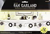 Amscan Grand New Year Party Fan Banner Garland Decoration (1 Piece), Multicolor, 12'