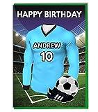 Einzigartige Manchester City Fußball-Shirt 'Geburtstagskarte für Ehemann, Vater, Sohn, Bruder, englischer Aufschrift