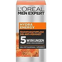 L'Oréal Men Expert Hydra Energy Feuchtigkeitspflege (24h Anti-Müdigkeit) 2er Pack (2 x 50 g)
