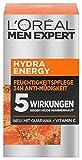LOréal Men Expert Hydra Energy Feuchtigkeitspflege (24h Anti-Müdigkeit) 2er Pack (2 x 50 g)