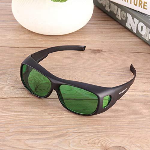 (sdfghzsedfgsdfg Wachsen LED-Betriebslicht Schutzbrille Indoor hydroponischen Raum Pflanze Visuelle Augenschutz UV-Gläser Goggles schwarz & grün)