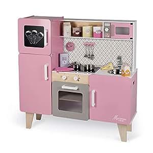 maxi cuisine en bois enfant macaron janod b b s pu riculture. Black Bedroom Furniture Sets. Home Design Ideas
