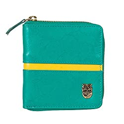 Color Stripe Pocket Wallet - Teal