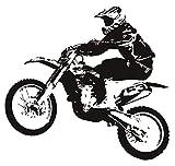 Adesivi murali e murali Biker Rider Stunt Jumping Adesivo murale Camera da letto Decor Moto Racing Sport Adesivi murali in PVC Poster 61 * 57com