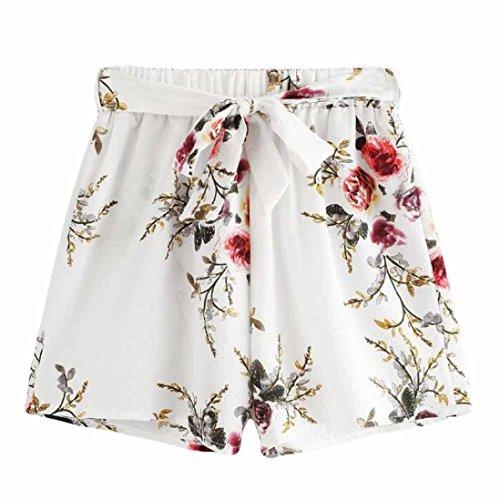 Vectry Damen Hosen Shorts Sommer Hotpants Bermudas Ultra Jeans Leggings Strand Laufgymnastik Yoga der Sporthosen Schlafanzughosen - Streifen Print Elastic Beach (S, N-M) (Fancy Tennis Pants)