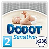 Dodot Sensitive - Pañales para bebés, talla 2 (3-6 kg), 7 packs de 34, 238 pañales