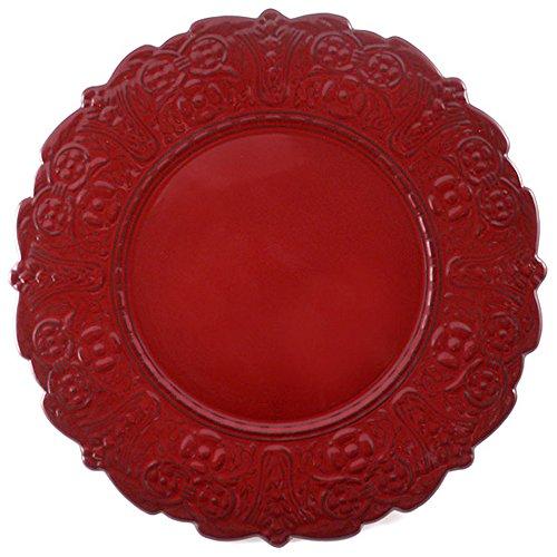Faiencerie de nider Badonviller Grand Siècle Assiette de Noël Assiettes Rouge 32 cm