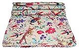Rajcrafts Bird Print Kantha Work Cotton ...
