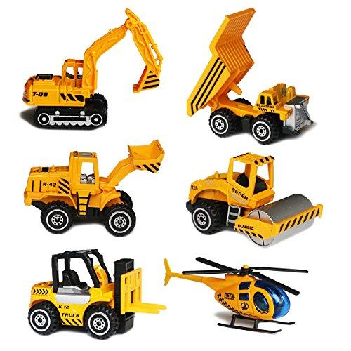 Juego de Mini Camión y Coche, Coches de Construcción Variada Vehículos Juguetes para Bebé Niños
