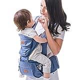SUNVENO Babytrage mit Abnehmbarem Kapuze Ergonomische Kindertrage Bauchtrage Hüftsitz für baby Rückentrage Babytrage 3 in 1 Kindertrage 15kg 20kg(Blau)