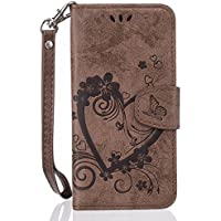 Mo-Beauty® - Cover per iPhone 7 [con protezione display in omaggio], di qualità, elegante, motivo (Stile Protezione Di Gas)