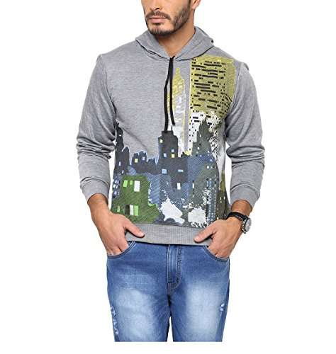 Yepme Men's Grey Poly Cotton Sweatshirts - Ypmsweat0301-$p