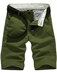 Cinnamou pantalones cortos para hombres con cintura elástica de longitud media para vacaciones Deportes corriendo trajes de baño gV8pTXY