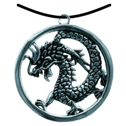 BestSaller 1093 Ritter Kette Chinesischer Drache im Ring, -