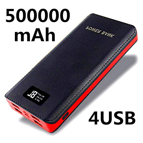 Fast 500000 mAh Power Bank Huge Capacity 4 USB Mobile Power Battery Charger