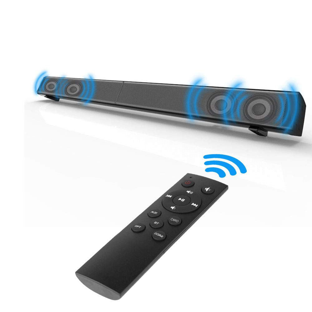 Soundbar, Fozela TV Sound Bar Wired and Wireless Bluetooth Speaker (40 Watt Speaker,31.5-Inch,Dual Connection Methods, Remote Control, Wall Mountable)