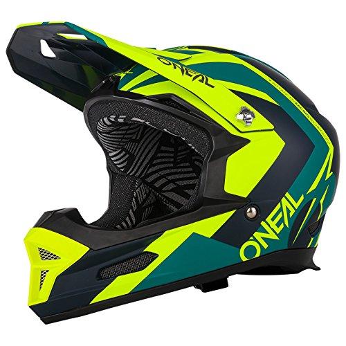 O'Neal Fury RL Hybrid Fahrrad Downhill Helm Action Cam Mount Halterung FR MTB Mountain Bike Fullface, 0499-H, Farbe Neon Gelb, Größe L